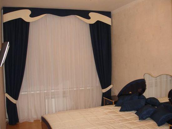 Дизайн штор и тюлей для спальни фото